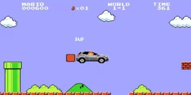 Mercedes utiliza Super Mario em peça publicitária de seu novo modelo