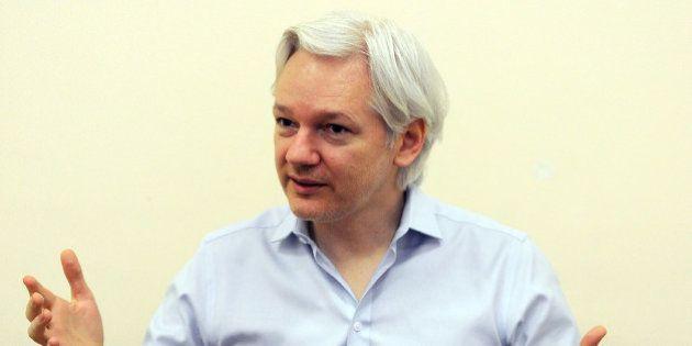 EMBARGOED UNTIL 0001GMT ON WEDNESDAY, JUNE 19, 2013Wikileaks founder Julian Assange speaks to the media...
