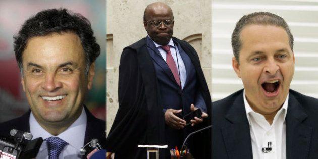 Quem vai ficar com ele? Apoio de Joaquim Barbosa abre disputa entre Aécio Neves e Eduardo