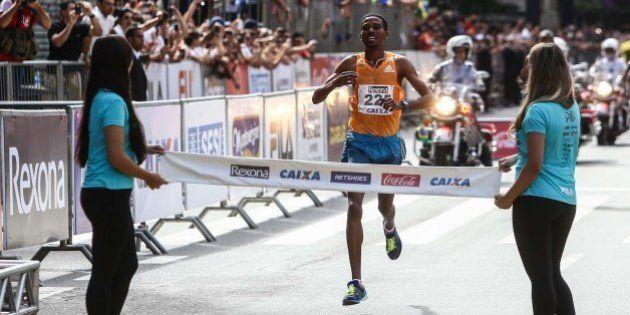 Atletas etíopes vencem a São Silvestre 2014