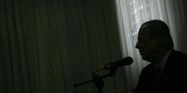Brazil's former Chief of Staff Jose Dirceu speaks during a press conference in Sao Paulo, Brazil, 30...