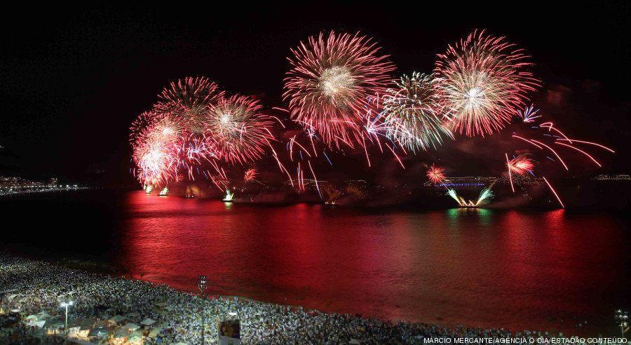 As festas de Réveillon pelo Brasil afora
