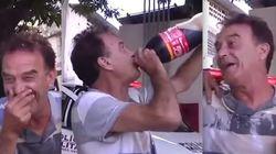 ASSISTA: Homem tenta 'burlar' teste do bafômetro com Coca-Cola,
