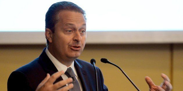 Pernambuco state governor Eduardo Campos, candidate of the Brazilian Socialist Party (PSB) for next October's...