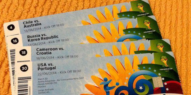 Meus ingressos para a Copa do
