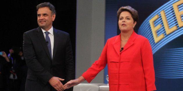 Dilma questiona falta de água em São Paulo em confronto com Aécio: 'Vocês vão ter que criar o Meu Banho,...