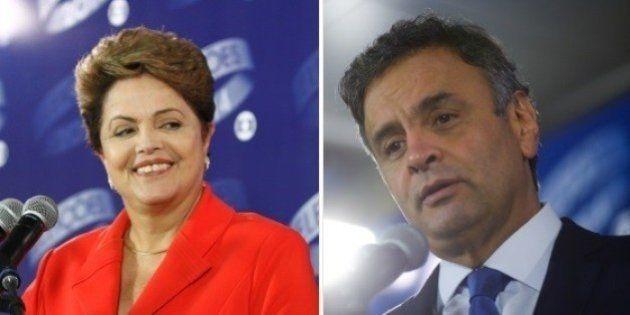 Na última pesquisa Ibope, Dilma segue à frente de Aécio, fora da margem de