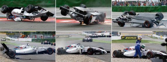 Felipe Massa lamenta novo acidente na 1ª volta do GP da Alemanha, mas diz estar