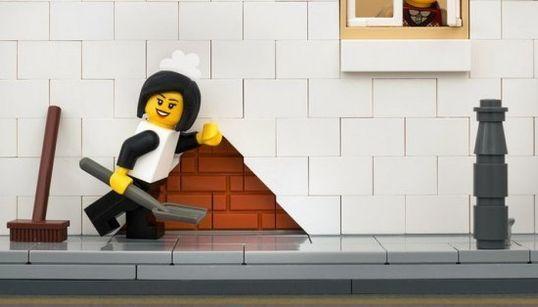 Misto de Lego e grafites de Banksy, conheça a divertida série