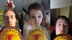 Eita! Amigos instalam GoPro em garrafa de Whiskey durante