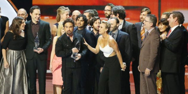 LOS ANGELES, CA - JANUARY 07: The Big Bang Theory cast onstage during The 41st Annual People's Choice...