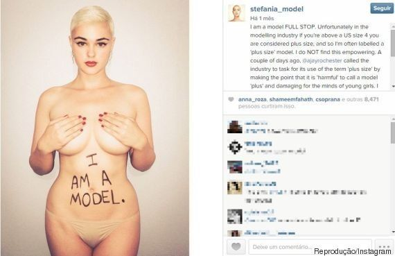 Modelo australiana Stefania Ferrario lança campanha contra o 'plus size' no mundo da