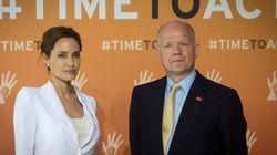 Jolie e Hague contra o estupro em zonas de