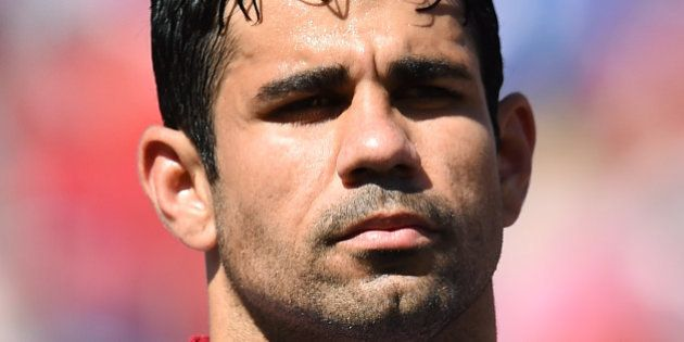 LANDOVER, MD - JUNE 07: Diego Costa of Spain looks on during an international friendly match between...