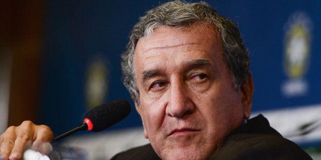 RIO DE JANEIRO, BRAZIL - FEBRUARY 11: Brazilian football team assistant coach Carlos Alberto Parreira...
