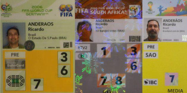 Entrei em campo para cobrir minha terceira Copa do Mundo e fiquei