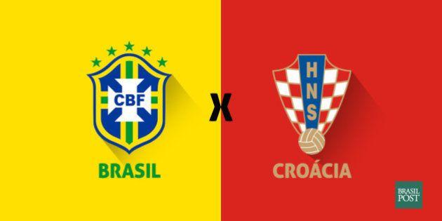 Brasil e Croácia ao vivo e tudo que acontece na abertura da Copa