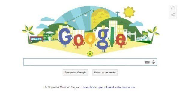 Google faz homenagem à Copa com doodle temático que mostra as tendências de