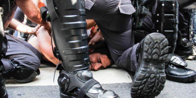 Confronto entre PM e manifestantes em SP gera primeira confusão na Copa do