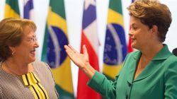 Dilma se encontra com Bachelet e recebe chefes de