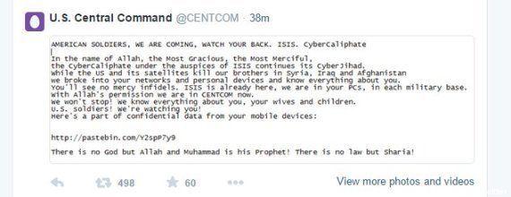 Hackers simpatizantes do Estado Islâmico invadem conta do Comando Central dos EUA no