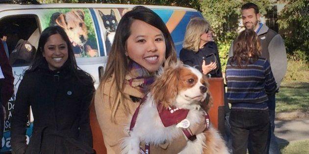 Livres do Ebola, enfermeira e seu cão se reencontram após longa