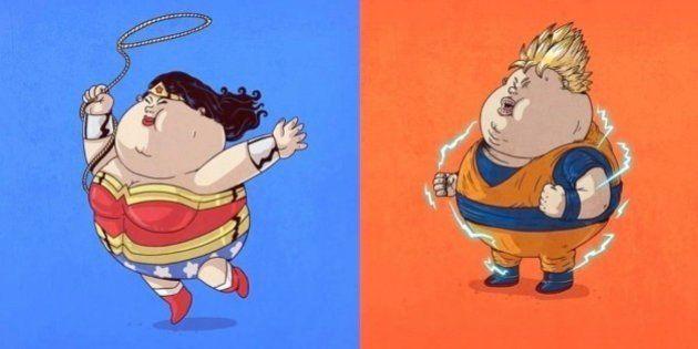 Fora de forma: Alexis Solis e a versão obesa dos principais super-heróis