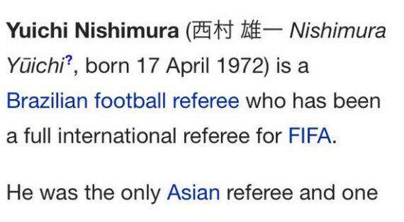 Árbitro criticado por croatas, Yuichi Nishimura é alvo de 'piada' em página da