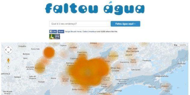 Site faltouagua.com permite reportar cortes no abastecimento sem informar quem o criou nem checar