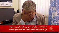 Porta-voz da ONU em Gaza cai no choro ao falar de ataque a