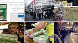 FOTOS: Badalada nas ruas e inflacionada na internet, Charlie Hebdo chega às