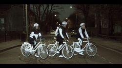 Marca de carros lança spray para ciclistas serem vistos de