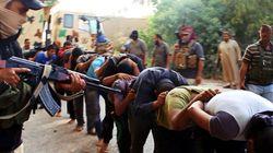 Execuções em massa de soldados iraquianos. Pode estar acontecendo