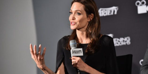 HOLLYWOOD, CA - DECEMBER 09: Executive producer Angelina Jolie attends the 2014 Variety Screening Series...