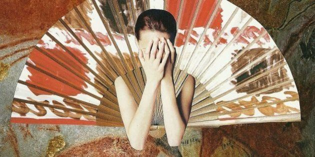 love, interrupted: widowed. handmade, scissor n´glue collage. june,