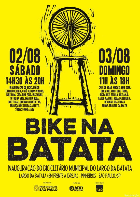 Largo da Batata terá inauguração de bicicletário publico durante o final de