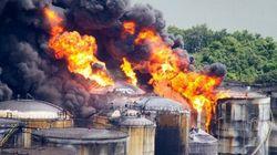SP: Incêndio em tanques de combustíveis em Santos se
