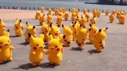 ASSISTA: Pikachus invadem praia e assustam turistas no