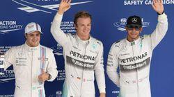 Rosberg e Hamilton, com Massa na rabeira deles. Quem vai