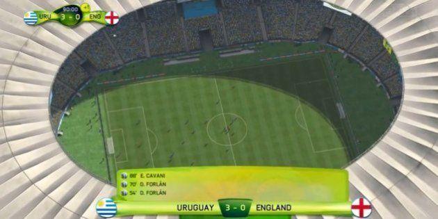 Uruguai 3 X 0 Inglaterra, prevê gameplay do Encanador Chapado