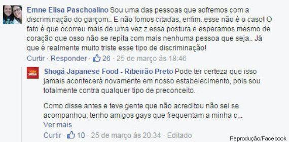 Casal lésbico relata caso de homofobia em restaurante do interior de São