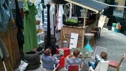 FOTOS: Café austríaco vira favela em protesto contra a