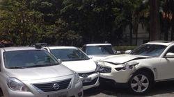 Um dia de fúria resulta em carros destruídos e manobrista preso em