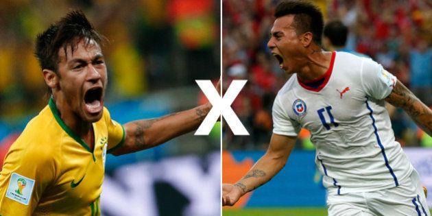 Brasil enfrenta o Chile nas oitavas e aposta no histórico dos times para avançar na Copa
