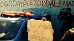 'Em protesto na periferia a polícia te olha com fome. A polícia te dá