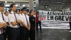 Trabalhadores do setor aéreo cruzam os braços em aeroportos do
