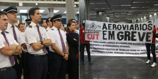Greve de aeronautas e aeroviários causa problemas em aeroportos do Brasil na manhã desta