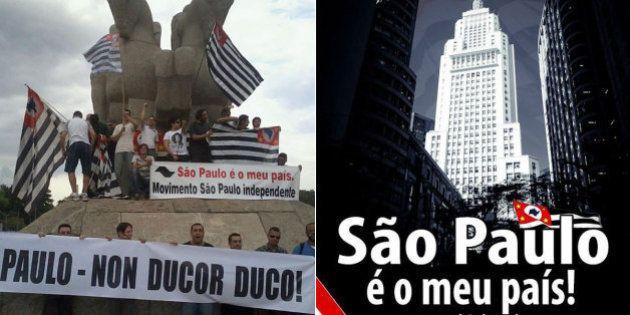 Movimento que prega a separação de São Paulo do resto do Brasil se reúne no Obelisco no