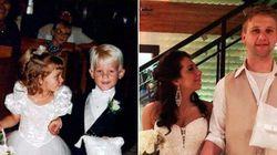 Daminha de honra e pajem se casam 20 anos após entrarem juntos na