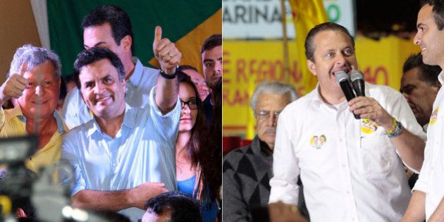 Aécio e Campos cobram ação da presidente Dilma Rousseff sobre ataques em perfis de